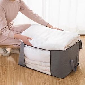 Image 2 - Новинка 2019, органайзер, сумка для хранения большого размера, одежда, стеганое одеяло, домашняя одежда, водонепроницаемое одеяло, хит продаж