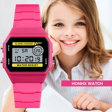 2019 Hot sell HONHX Waterproof Children Boys Luxury Analog Digital Sport LED Waterproof Luminous Wri