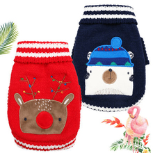 Купить с кэшбэком Warm Dog Clothes For Small Dogs Winter Coats Xmas Sweater Christmas Pull Pour Chien Vetement Chien Ubranka Dla Psa Pet 5d0004