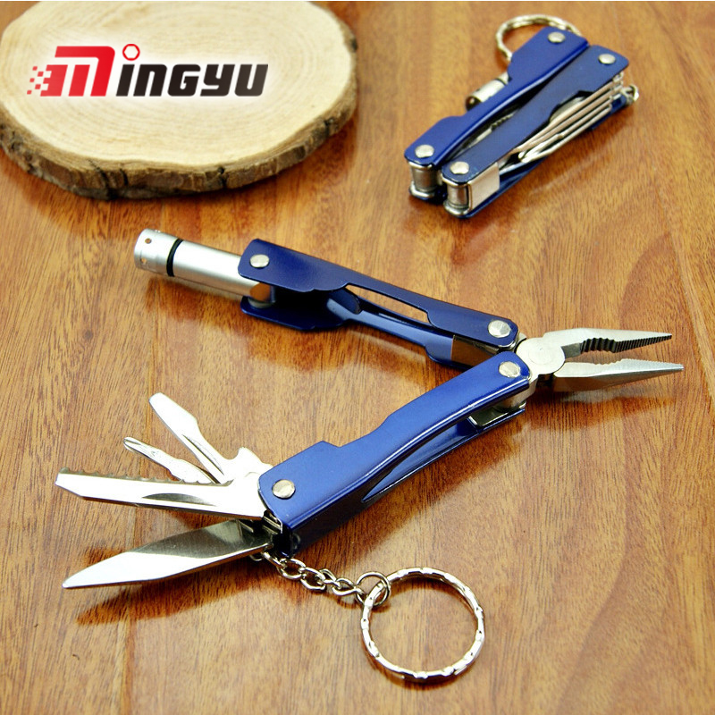 Universal Outdoor multifunction pliers with LED lights stainless steel portable mini multipurpose tool folding knife все цены