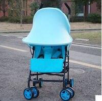 Infant Schatten Regen UV Schwarz & Blau Sonne Schatten Baldachin Extender für Einzel Kinderwagen Baby trolley markise Valance