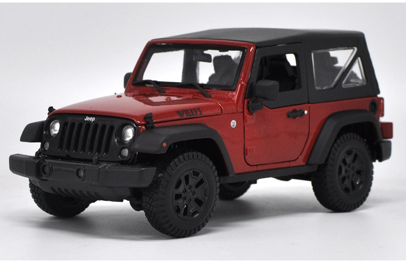 * 1/18 All New Jeep Wrangler Willys 2017 Hard-top Off Road Vehicle SUV Alloy Toy Car 1 18 scale red jeep wrangler willys alloy diecast model car off road vehicle model toys for children gifts collections