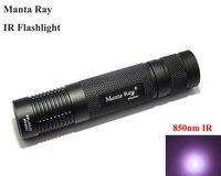 VUAN Manta Ray 850nm Infrared Flashlight Small Straight Tube IR Fill Light Flashlight 1x18650