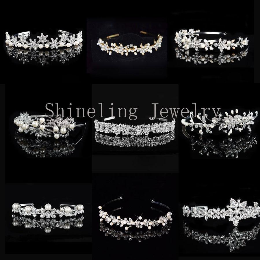 Requintado Casamento Art Deco Pérolas Headpiece Tiara de Strass Tiara de Cristal Coroa De Noiva acessórios Do Cabelo Do Casamento