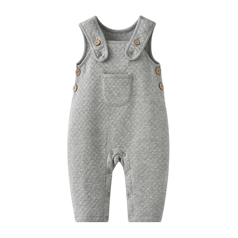 2018 New Fashion Baby Rompers Baby Boy Pocket Cotton Overalls Girls Solid Color Plaid Rompers Kid Clothing baby rompers clothing 2017 fashion
