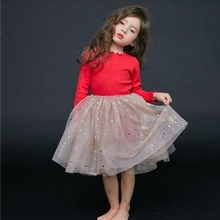 Summer Brand 2019 Kids Dresses For Girls Party Wear Bling Star Girl Dress Children Boutique Clothing Tutu Baby Girls Clothes недорого