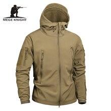 Mege marca cor sólida tático homem sharkskin softshell outono inverno outerwear, vestuário militar jaqueta do exército dos eua casaco