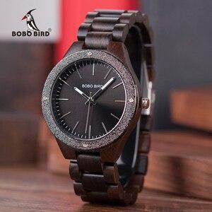 Image 1 - BOBO BIRD Wooden Men Watches erkek kol saati Quartz Handmade Unique Casual Wristwatches Gifts Timepieces Drop Shipping V P05