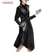 Высококачественное Женское пальто-Пыльник из овечьей кожи, Осеннее кожаное пальто, новинка, европейский стиль, на заказ, женская одежда, гарантия качества K2828