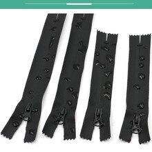 5pcs 5#black waterproof nylon zipper repair diy coat jacket