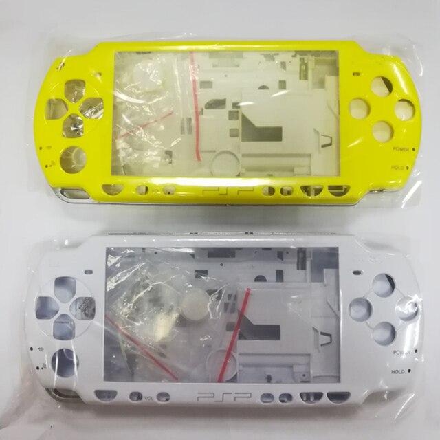 Colore giallo bianco cristallo per PSP 2000 PSP2000 Console di gioco sostituzione custodia completa custodia shell cover con kit pulsanti