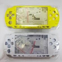 Repuestos para consolas de juegos cobertura completa Funda con kit de botones Color amarillo, blanco y cristal para PSP 2000 PSP2000