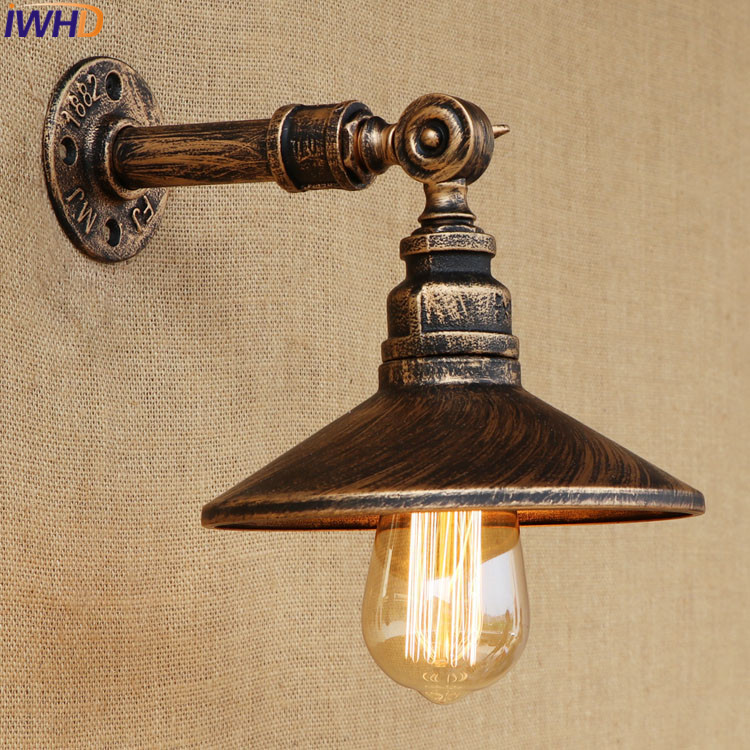 Water Pipe Wall Lamp Vintage Retro Loft Style Industrial Lighting Nurale Led Edison Wall Sconce Apliques Stair Light