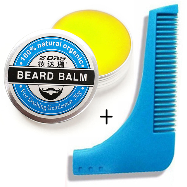 2018 New Beard Oil Balm Moustache Wax beard combgrooming conditioner beard balm for styling moisturizing smoothing gentlemen 2 1
