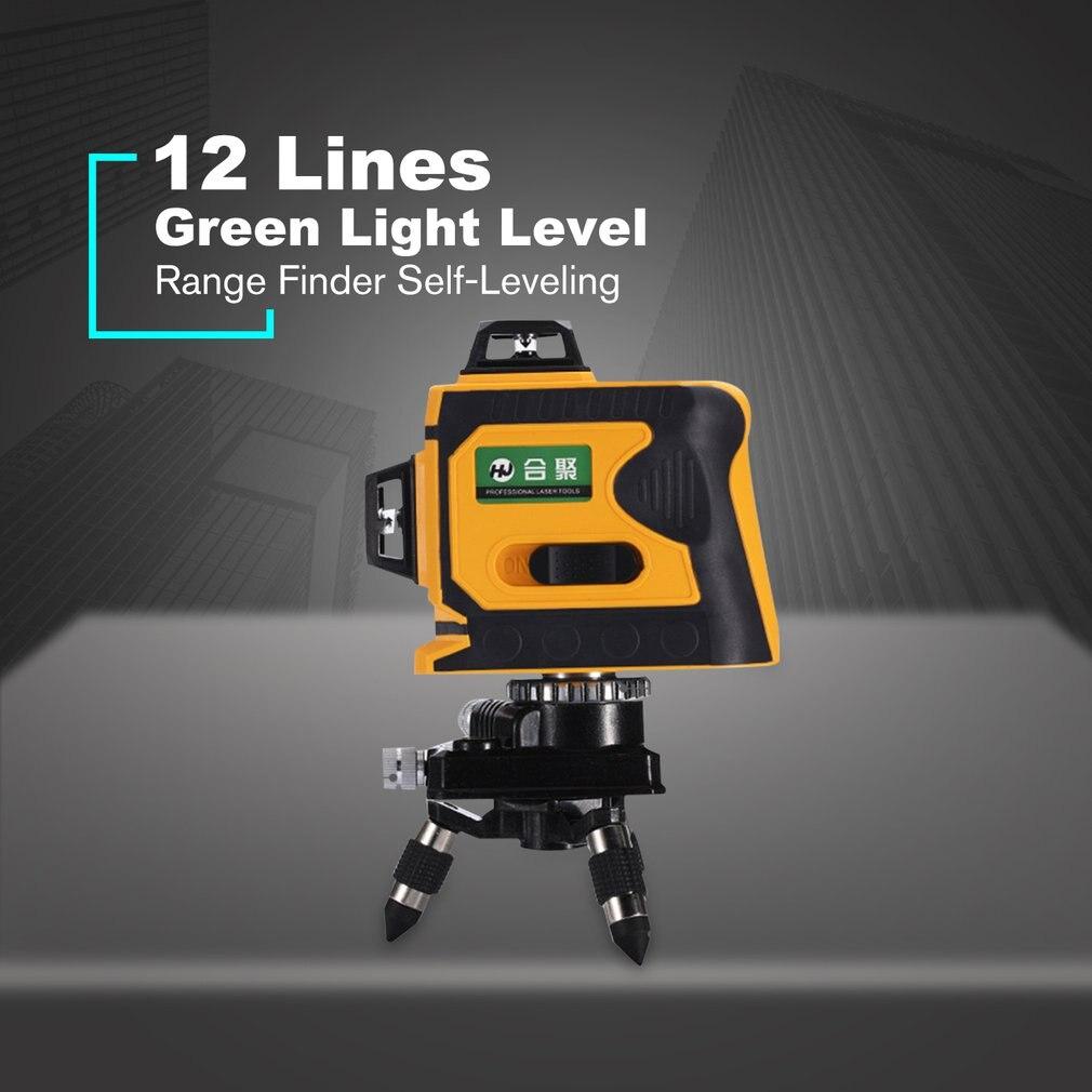 12 lignes 3D télémètre de niveau Laser auto-nivelant 360 croix horizontale et verticale Super puissante ligne de faisceau Laser vert vente