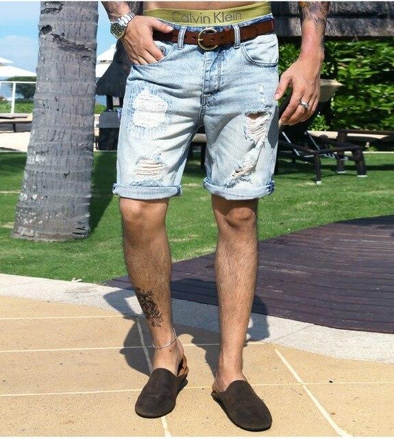 980b59746d 2017 Men Shorts denim ripped holes jeans men casual hip hop new summer  shorts men top