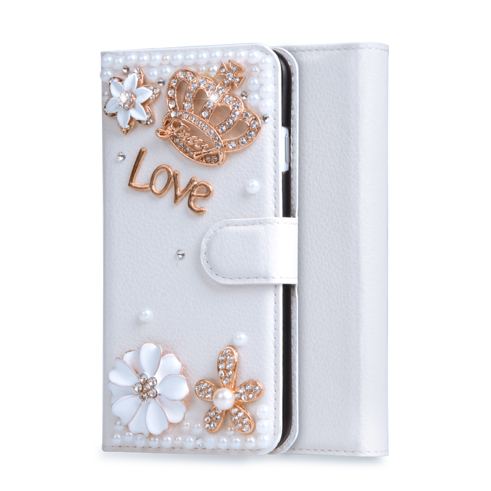 Pochette de luxe Flip Stand PU En Cuir Diamant Cas Pour Samsung Galaxy  Alpha G850 G850Y G850F G8508S G8509V Main Couverture Sacs 7d8faf9ec10