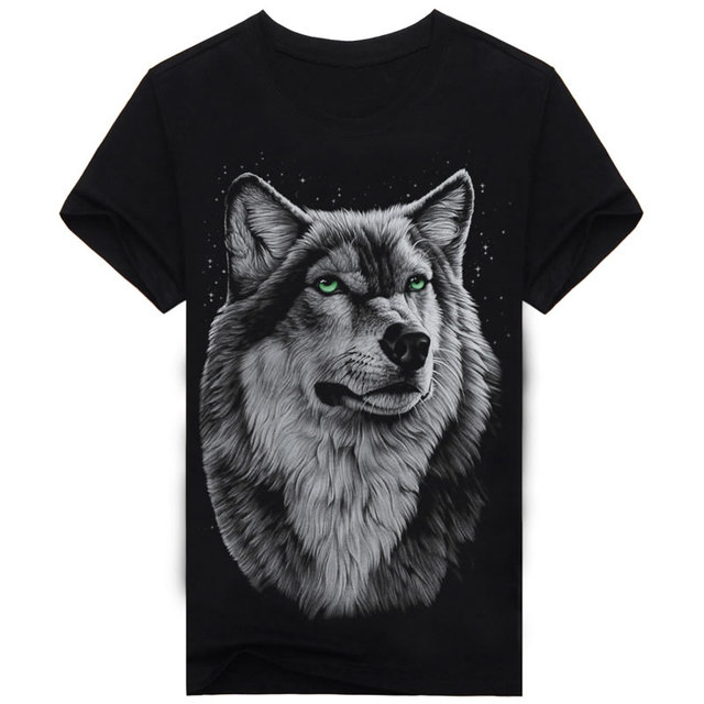 3D Print Stars T Shirt Men Shirts Cotton Dark