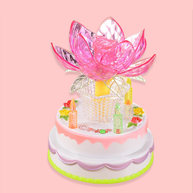 Mabor Luminaria Multicolor Nightlight Birthday Cake Lotus Light