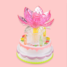 Mabor Luminaria Multicolor Nightlight Birthday Cake Lotus Light Lamps Music Box Rotating