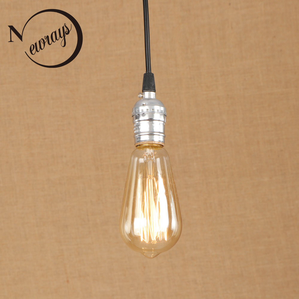 Vintage iron painted pendant lamp E27 220V LED 12 styles hanging light fixture restaurant bedroom living room kitchen cafe shop