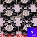 10 pcs 3 W Chip de Luz de Alta Potência LED UV 375NM 365nm 385nm 395nm 400nm 415nm 430nm Ultra Violeta com 20mm pcb estrela DIY