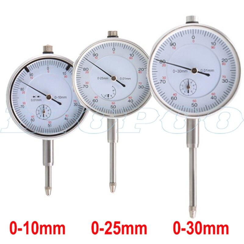 0-10mm 0-25mm 0-30mm 0.01mm Dial Indicator Gauge Meter Precise Indicator Gauge Measure Instrument Tool Dial Gauge Micrometer