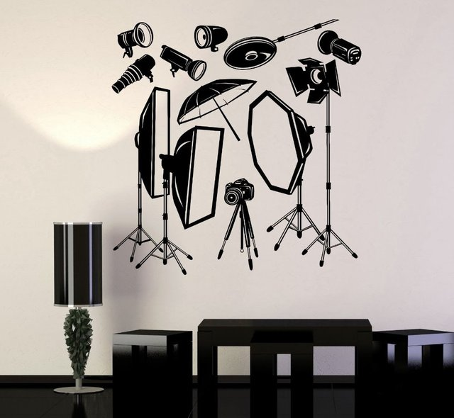 cinema vinyl wall decal photo studio equipment photographer mural