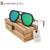 2017 Altamente Espelho Polarizado óculos de Bambu de Madeira Óculos De Sol Dos Homens Do Esporte Surf Óculos de sol Mulheres UV óculos de sol Com Caso De Amendoim KD156