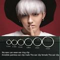 2PCS Unisex Punk Style Ear Clip Fake Body Piercing Nose Lip Hoop Rings Ear Clip Fashion Jewelry