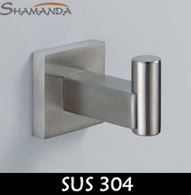 Sale Free Shipping Robe Hook,clothes Hook,solid Sus 304 Nickel Brushed,304 Stainless Steel Hooks,bathroom Accessories-55003