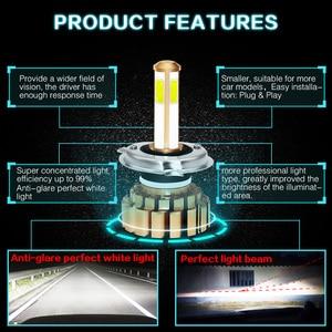 Image 5 - 12000Lm 6500K H4 LED H7 hb4 9006 hb3 9005 H8 H11 Auto Car Headlight Bulbs 4 Side Chip Leds Car Lights Bulbs LED H4 H7 Auto Lamps