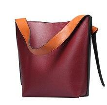 Fashion Women Handbag Genuine Leather Womens Shoulder Bags Splice Composite Bag Luxury Designer Brand Lady