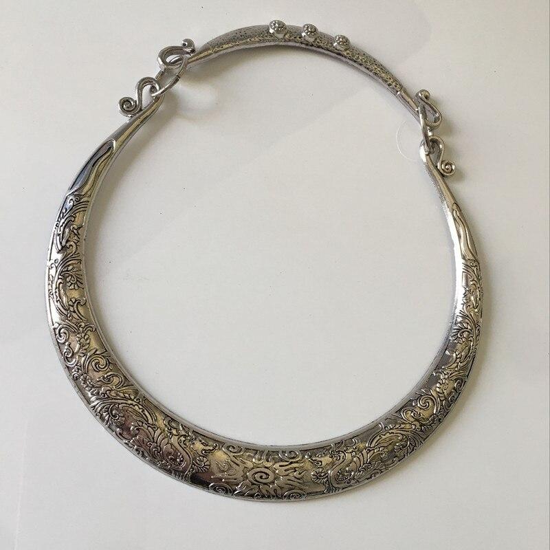 Ethnic Jewelry vintage collar chokers necklace tibetan silver necklace for women fashion jewelry J1692 Ожерелье