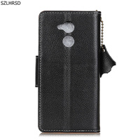 Hot For HONOR 6A Case Litchi Genuine Leather Flip Stand Leather Cover Capa For Huawei Honor