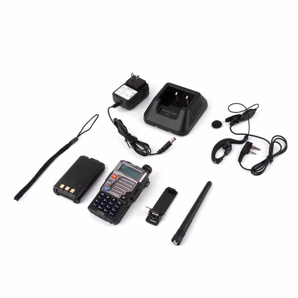 Baofeng BF-UV-5RE écran LCD talkie-walkie économiseur de batterie 5 W 128CH FM VOX DTMF Radio bidirectionnelle adaptateur US prise EU avec antenne
