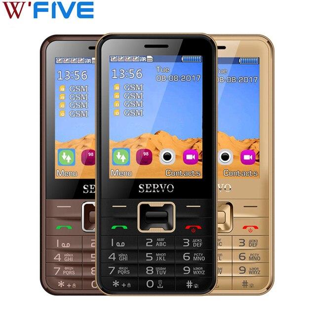 Оригинальный телефон Servo V8100 2.8 дюймов 4 sim-карт 4 ожидания телефона bluetooth фонарик FM GPRS русская клавиатура мобильных телефонов