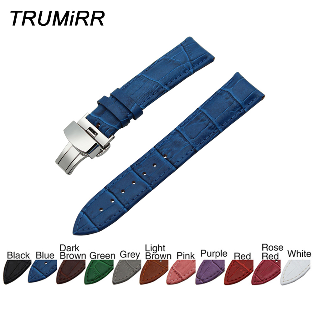 Genuine Leather Watchband Butterfly Buckle Strap + Tool for Breitling Men Women Watch Band Wrist Bracelet 18mm 20mm 22mm 24mm цена