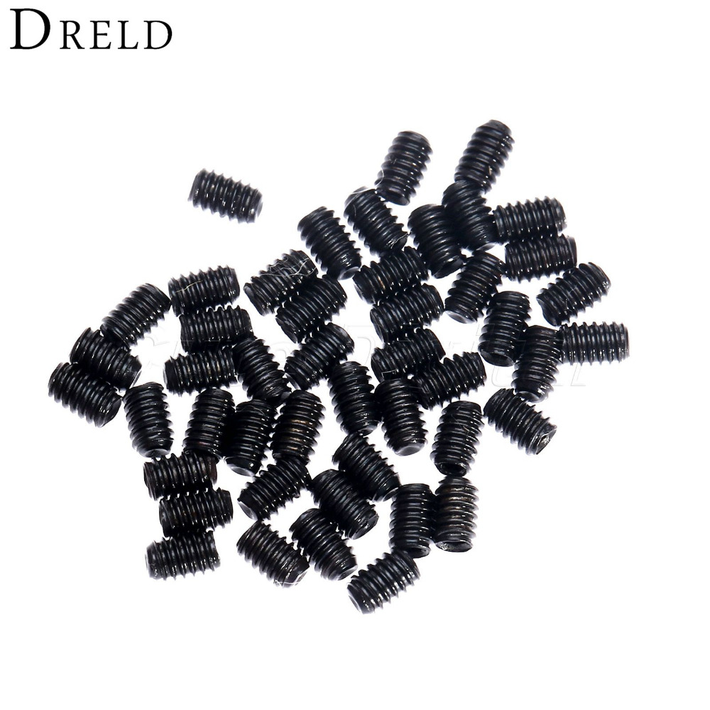 50PC/set M2x 3mm Metric Thread Carbon Steel Allen Head Hex Socket Grub Screws Bolts Fasteners Self-tapping Screw Socket Head set 50pcs lots carbon steel screws black m2 bolts hex socket pan head cap machine screws wood box screws allen bolts m2x8mm