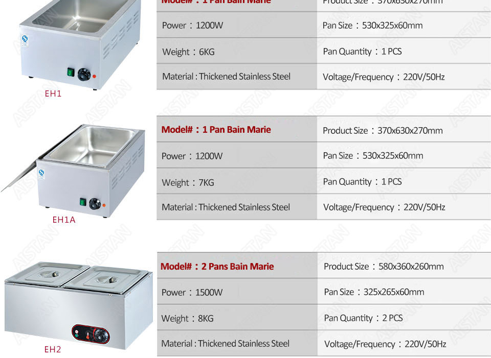 EH1A electric bain marie food warmer machine for hotel and restaurant 15