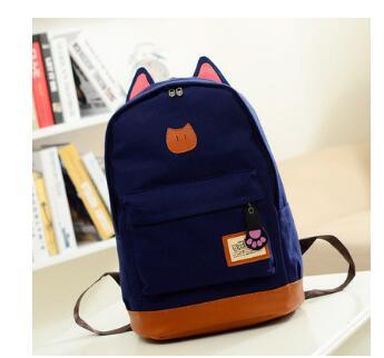 Винтаж холст школьная сумка для подростков Обувь для девочек Школьные ранцы кот рюкзак женский сумка Mochila рюкзак