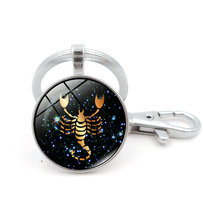 Wholesale Zodiac Sign Keychain 12 Constellation Cancer -2114