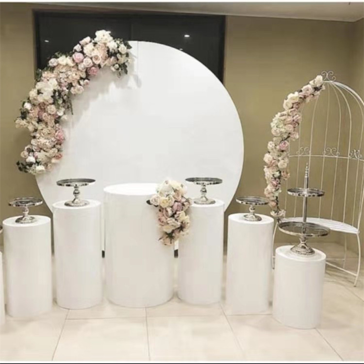 Grand fer cercles stand pour mariage anniversaire bébé douche scène décors métal support pour bricolage en plein air pelouse fête fleurs décor