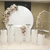 large iron circles stand for Wedding birthday baby shower stage backdrops metal stand for DIY outdoor lawn party flowers decor