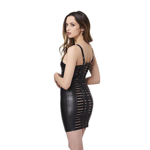 Mini vestido vinilo