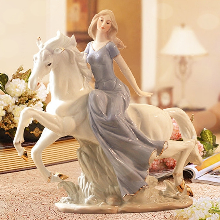 Ceramic Beauty Girl Lady Figurine Home Decor Crafts Room