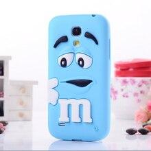 Silicone M & M caso Fragrance Chocolate para Samsung Galaxy S4 Mini i9190, Galaxy S4 Mini de Chocolate do arco-íris capa + filme tela
