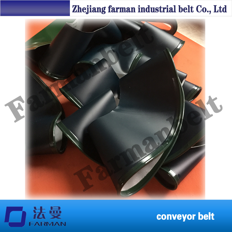 цена на Best Quality 90 Degrees Or 180 Degree Turning Sidewall Conveyor Belt For Packaged Products