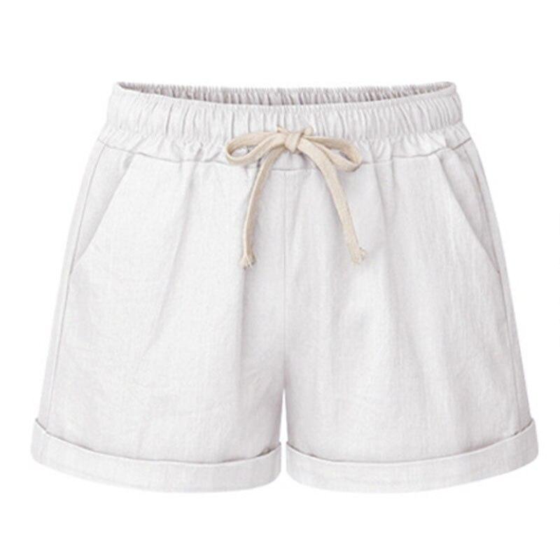 Hot Summer Women Wide Leg Shorts Cotton High Waist Drawstring Pockets Girl Casual Shorts Plus Size M-6XL SMA66