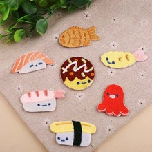 Fish Sushi Food Iron On Patch Clothing Embroidered Sewing Applique Sew Fabric Badge Apparel Accessories Patches
